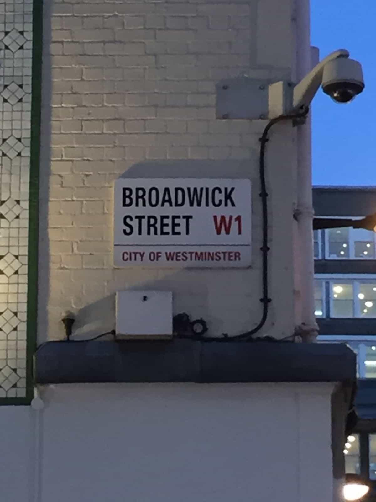 Broadwick Street hoje. Foto de Glauber Giustina