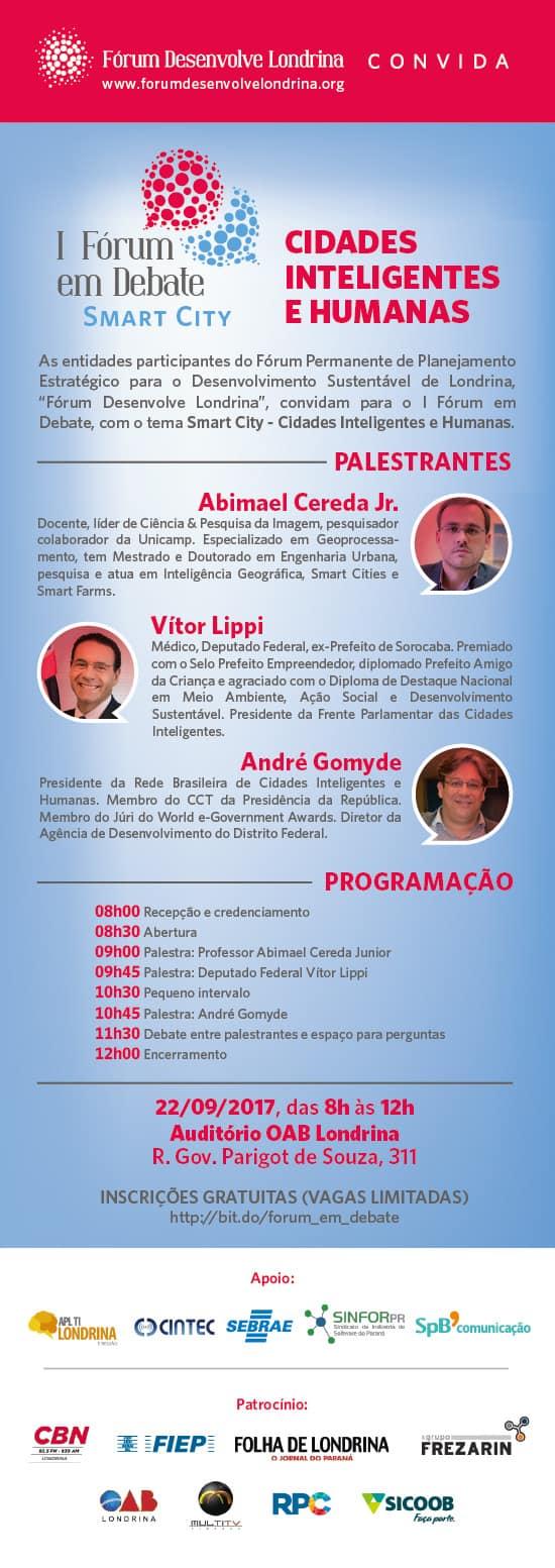 """Fórum Desenvolve Londrina promove debate """"Cidades Inteligentes e Humanas"""""""